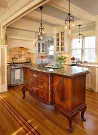 french kitchen lighting. Brilliant The Centerpiece Of Kitchen Is An Antique French Cabinet Island Prepare Lighting