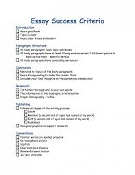 essay success criteria kauffeeology essaysuccess criteria