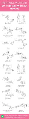 Six Pack Abs Workout Chart Six Pack Abs Workout Routine My Custom Printable Workout By
