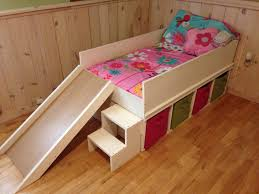 DIY toddler bed with slide and toy storage. | DIY Toddler bed with ...