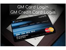 gm credit card login