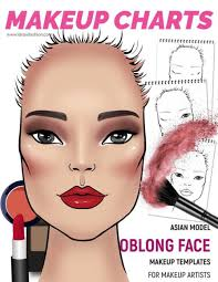 face charts for makeup artists