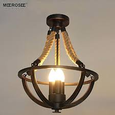 rope light fixture vintage rope creative chandelier light fixture metal rope lamp re for hotel restaurant