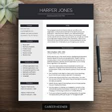 Resume Design Templates Downloadable Modern Resume Template For Word Cover Letter References 15