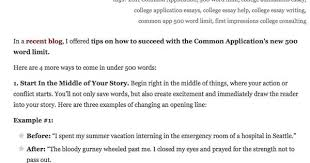 Common college application essay questions Common App Writing