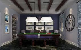 billiard room lighting. Image Of: Sports Club Billiard Room Decoration Lighting