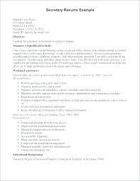 Resume Sample For Secretary Executive Secretary Resume Sample Secretary Resume Examples Legal