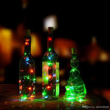 Recycle Wine Bottle Lights Battery Powered 15leds Bottle String Decoration Diy Empty Liquor Lamps Christmas Led String Décor Lights