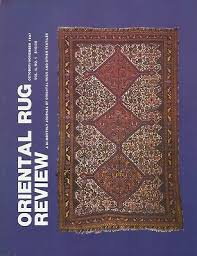 oriental rug review vol 8 no 1 october november 1987 first color issue excellent