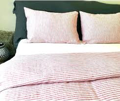 ticking stripe king comforter pinstripe bedding striped collections red and white duvet cover grey blue