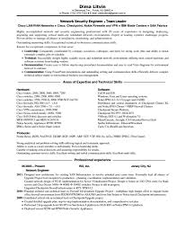 Entry Level Network Engineer Resume Cisco Network Engineer Resume