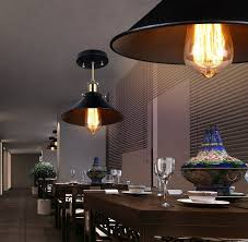 metal pendant lighting fixtures. TryLight Industrial Black Metal Pendant Lighting Fixture Vintage Light Shade 1-Light For Dining Room, Kitchen, Bar - Amazon.com Fixtures J