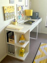 ikea office furniture ideas. Charming Ikea Micke Desk For Home Office Furniture Ideas: Appealing White Deskplus Shelves And Pretty Table Lamp Home\u2026 Ideas