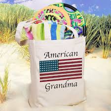 american flag personalized patriotic canvas tote bags