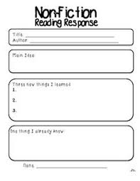 reading response pack literacy station follow up
