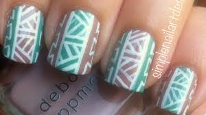 Tribal Print Nail Art - YouTube