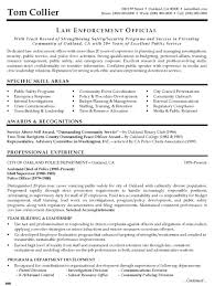 Resume Templates Police Excellent Examples Objective Law Enforcement