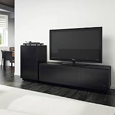 bdi bdi mirage 8224 tv cabinet black with grey tinted glass doors
