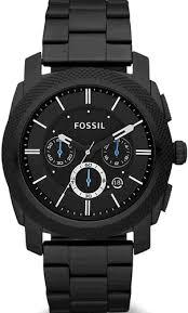 black fossil machine steel chronograph watch fs4552 men s black fossil machine steel chronograph watch fs4552