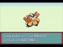 Evolving Makuhita In Pokemon Emerald Youtube