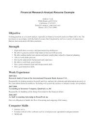 Credit Analyst Resume Example Market Research Analyst Resume Sample Research Analyst Resume Sample