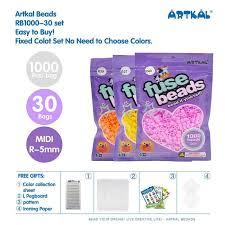 Artkal Beads 30 Bags 1000pcs Bag Midi Soft Perler Beads R 5mm Diy Educational Toys Rb1000 30