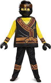 Amazon.com: Disguise Cole Lego Ninjago Movie Deluxe Costume, Yellow/Black,  Large (10-12) : Clothing, Shoes & Jewelry