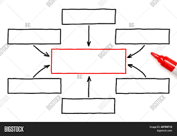 Empty Flow Chart Red Image Photo Free Trial Bigstock