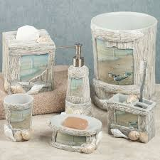 Decorative Accessories For Bathrooms Rustic Beach Bathroom Decor And Accessories Sets House Intended