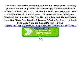 Pop Charts 100 Iconic Song Lyrics Visualized Popular Book Best Ebook Free Download Premium E Books
