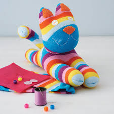 Craft Sock Kitty Craft Kit By Sock Creatures Notonthehighstreetcom