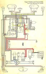 wiring diagram in color 1964 vw bug, beetle, convertible the 1967 vw bug fuse diagram at 1967 Vw Beetle Wiring Diagram