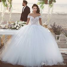 2016 ball gown wedding dresses with off the shoulder straps