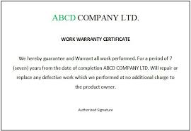 Example Certificate Work Completion Certificate Sample Copy