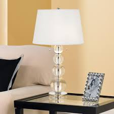 pottery barn stacked crystal table bedside lamp table designs
