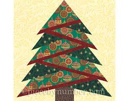Christmas Tree Quilt Block Pattern pine tree quilt block pattern ... & Christmas Tree Quilt Block Pattern pine tree quilt block pattern paper  piecing quilt pattern Adamdwight.com
