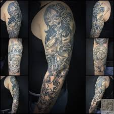 мексиканский рукав тату на руке у парня добавлено иван вишневский