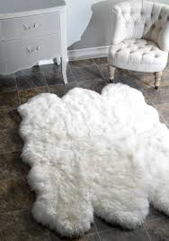 outstanding faux fur area rug ikea sheepskin rugs full image for flower shaped large round black white grey washable runner furry tags fabulous wonderful