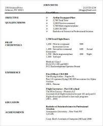 Pilot Resume Template Sample Pilot Resume 6 Examples In Word Pdf Templates