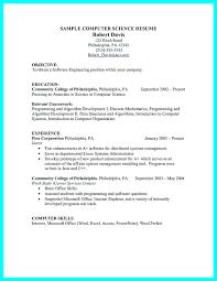 Computer Science Resume Sample Sarahepps Com