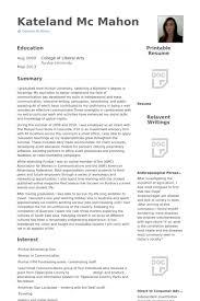Advertising Internship Resume Best Public Relations Intern Resume Samples VisualCV Resume Samples