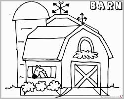 Barn Coloring Pages To Print With 63 Cute Ideas Of Barn Coloring