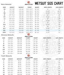 Rip Curl E Bomb Size Chart Rip Curl Bomb Size Guide
