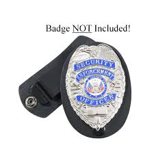 security guard badge template. Leather Security Guard Loss Prevention Police Detective Badge ShIeld