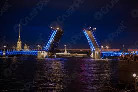 Santo petersburgo, Russia - 24 giugno 2017 vista sul ponte del - foto  d'archivio