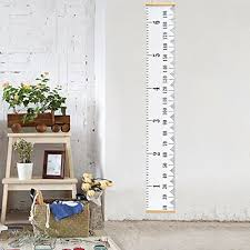 Hang The Charts On The Wall Vermogen Hanging Ruler Height Growth Chart For Baby Kids
