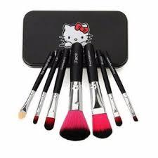 o kitty plete makeup mini brush kit with a storage box set of 7 pcs