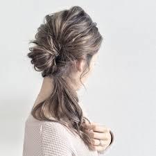 サイド寄せヘアアレンジの簡単なやり方は横結びワンサイドヘア髪型