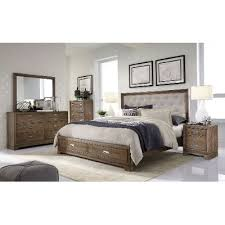 rustic king bedroom set. caramel brown rustic contemporary 6 piece king bedroom set - front street i