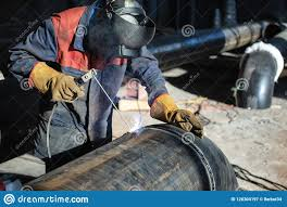 Welding Pipeline Welding Of The Tap To The Pipe By Means Of Manual Arc